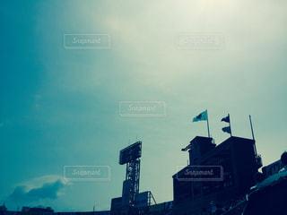 甲子園の空の写真・画像素材[1000858]