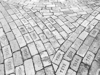 レンガ歩道の写真・画像素材[897087]