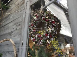 クリスマスリースの写真・画像素材[897090]