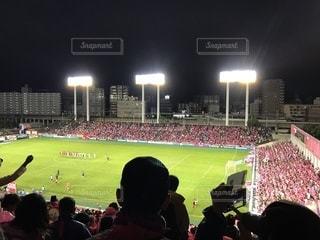 人でいっぱいスタジアムの写真・画像素材[883523]