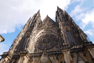 プラハ城 聖ヴィート大聖堂の写真・画像素材[883821]
