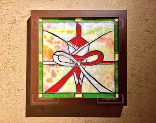 結納の意味を表すステンドグラスの写真・画像素材[996496]