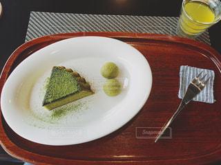 抹茶屋さんの抹茶ケーキの写真・画像素材[1019971]
