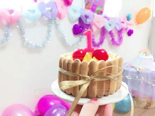 赤ちゃん用のケーキの写真・画像素材[1677769]