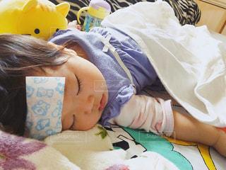 寝ている赤ちゃんの写真・画像素材[1749481]