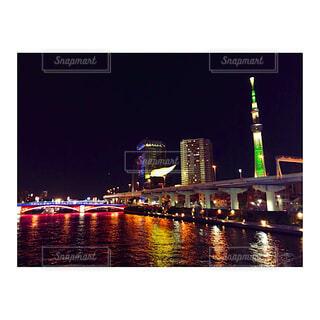 隅田川の夜景の写真・画像素材[4373868]