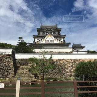 大阪の岸和田にある岸和田城の写真・画像素材[888622]