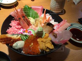 金沢の近江町市場で海鮮丼❤︎の写真・画像素材[900488]
