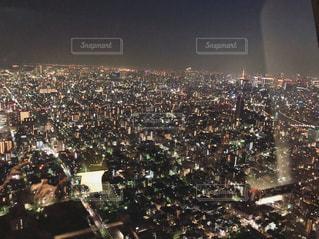 夜の街の景色スカイツリーからの写真・画像素材[1058294]