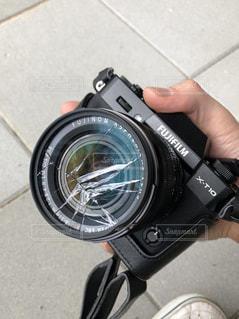 レンズが割れたの写真・画像素材[1470633]