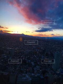 日が暮れる都内の美しい景色の写真・画像素材[1708532]