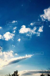 空にはハート雲発見💓の写真・画像素材[1793879]
