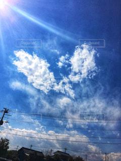 U字型の雲発見の写真・画像素材[1842520]