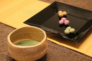 茶道 お抹茶とお茶菓子の写真・画像素材[890464]