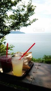 海を眺めながらのランチの写真・画像素材[925881]