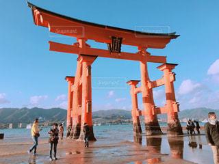 厳島神社の鳥居の写真・画像素材[907842]