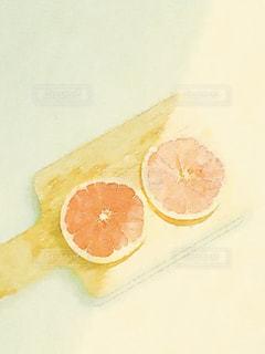 グレープフルーツスライスの写真・画像素材[1599352]