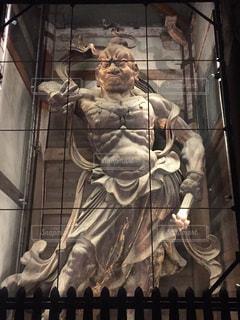 奈良公園の金剛力士像  風神雷神。の写真・画像素材[893544]