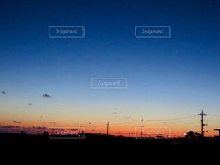 背景の夕日の写真・画像素材[898460]