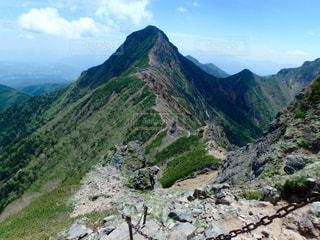 岩が多い山のビューの写真・画像素材[899554]