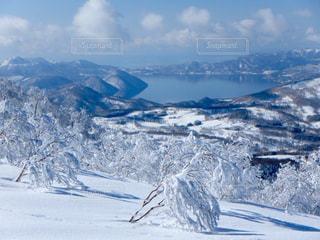 雪に覆われた山の写真・画像素材[901253]