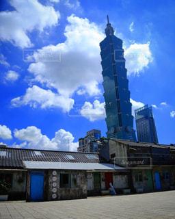 晴天の台北101の写真・画像素材[896114]