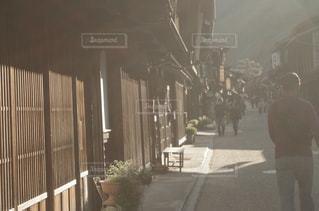 西陽と奈良井宿。の写真・画像素材[899399]