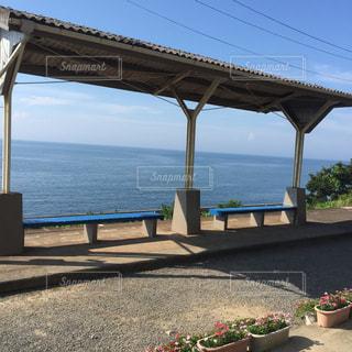 駅と海の写真・画像素材[910643]