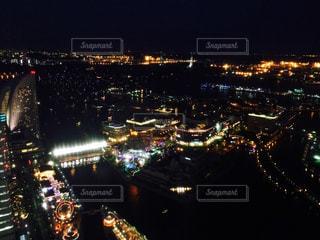 夏の横浜港の夜景 - No.899999