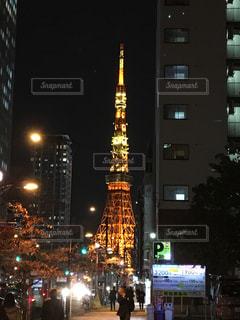 夜の街の景色の写真・画像素材[903025]