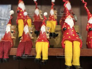 サンタクロースの可愛い人形の写真・画像素材[906795]