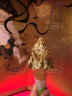 金箔ソフトクリームの写真・画像素材[904835]