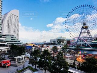 都市を介して駆動車の写真・画像素材[919214]