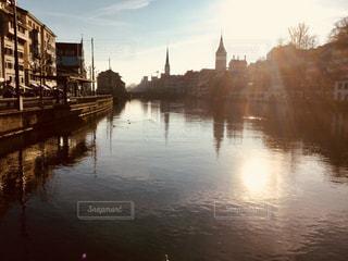 水上の橋の写真・画像素材[924136]
