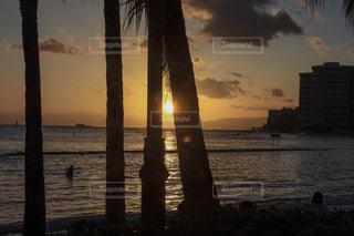 ワイキキビーチの夕日の写真・画像素材[1029981]