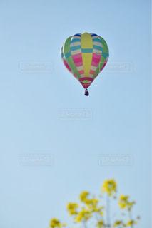 空にカラフルな熱気球の写真・画像素材[909089]