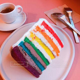レインボーケーキの写真・画像素材[907854]