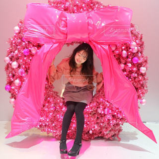 ピンクのリースの写真・画像素材[936984]