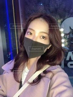 マスクをつけた女性の写真・画像素材[3886724]