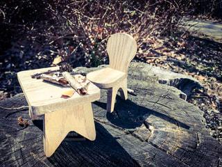 机と椅子の写真・画像素材[1048281]