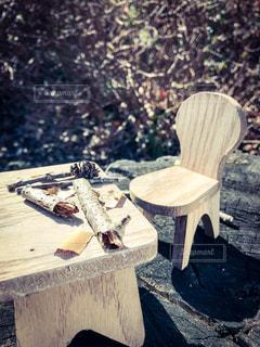 机と椅子の写真・画像素材[1048291]