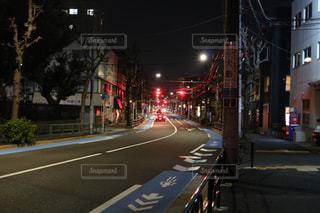 街の通りのビューの写真・画像素材[1053997]