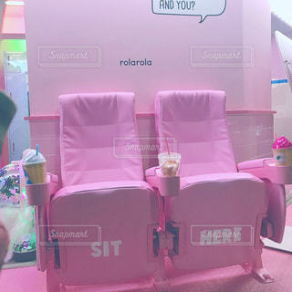 ピンクのベンチシート - No.912594
