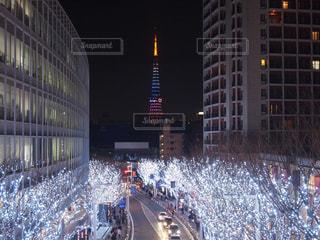 白い東京の街並みの写真・画像素材[914966]