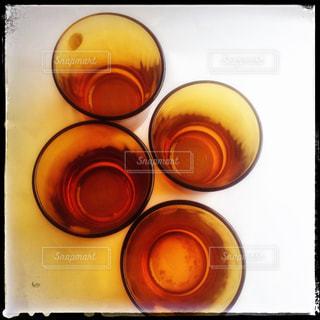 グラス、上からの写真・画像素材[1286358]