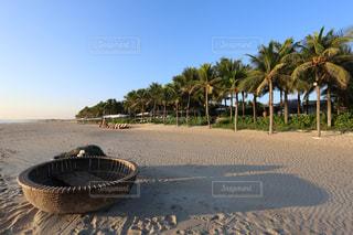 プライベートビーチとボートの写真・画像素材[915458]