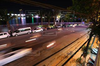 ベトナムの夜 光の軌跡 - No.915596