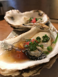 牡蠣のアップの写真・画像素材[921574]