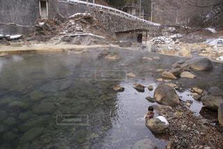 秘境の大露天風呂の写真・画像素材[929776]