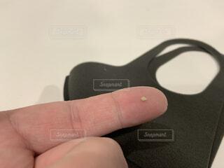 本物の膿栓の写真・画像素材[4257047]